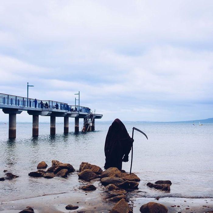 ölüm meleği azrail, the swim reaper, instagram fenomenleri
