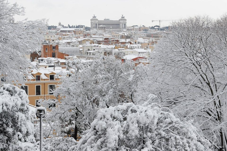 roma, italya, italya roma kar, roma hava durumu