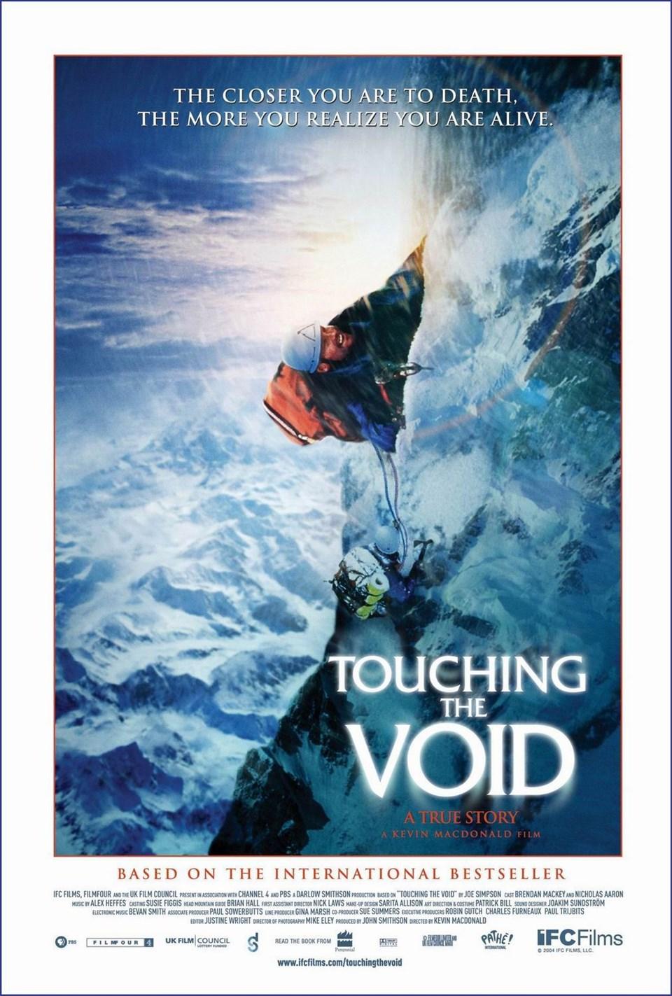 en iyi dağcılık filmleri, en güzel dağcılık filmleri, tırmanış filmleri, touching the void