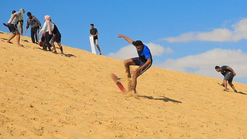çöl kayağı, sandboard, mısır'da kayak, çölde kayak