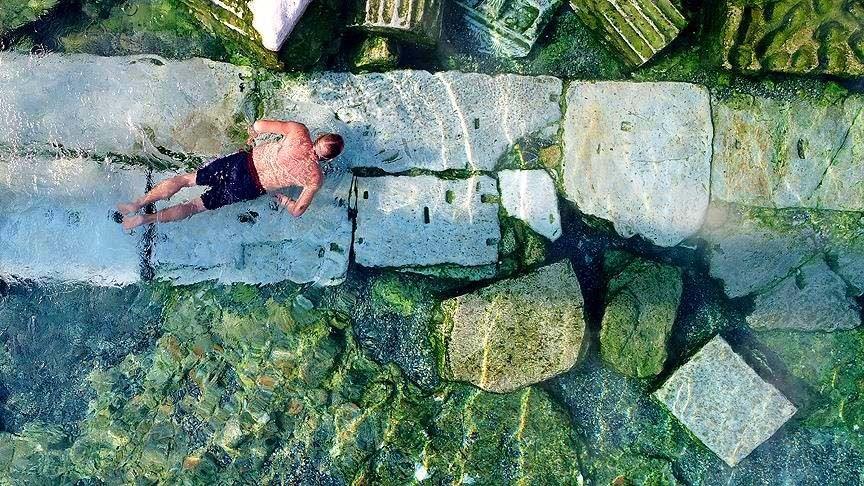hierapolis antik kenti, antik termal havuz, pamukkale antik havuz, denizli gezilecek yerler, pamukkale