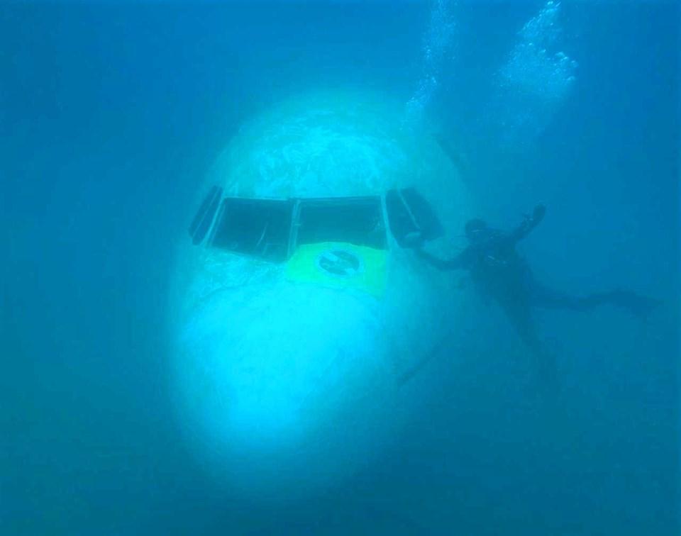 saros ibrice limanı, ibrice dalış, ibrice uçak batığı
