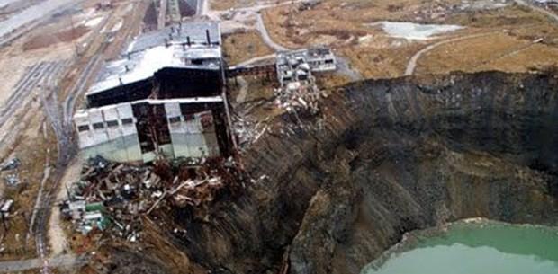 Rusya'da sulara gömülen bir kent Berezniki