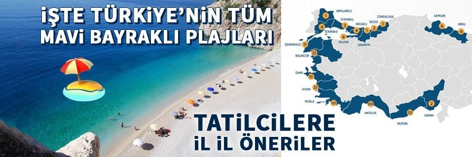 Mavi Bayraklı plajlar, En iyi sahiller ve plajlar