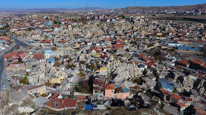 Nevsehir, rock houses, Cappadocia, Nar town
