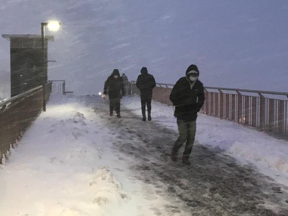 İstanbul'da kar yağışı yeniden etkisini artırdı - 14