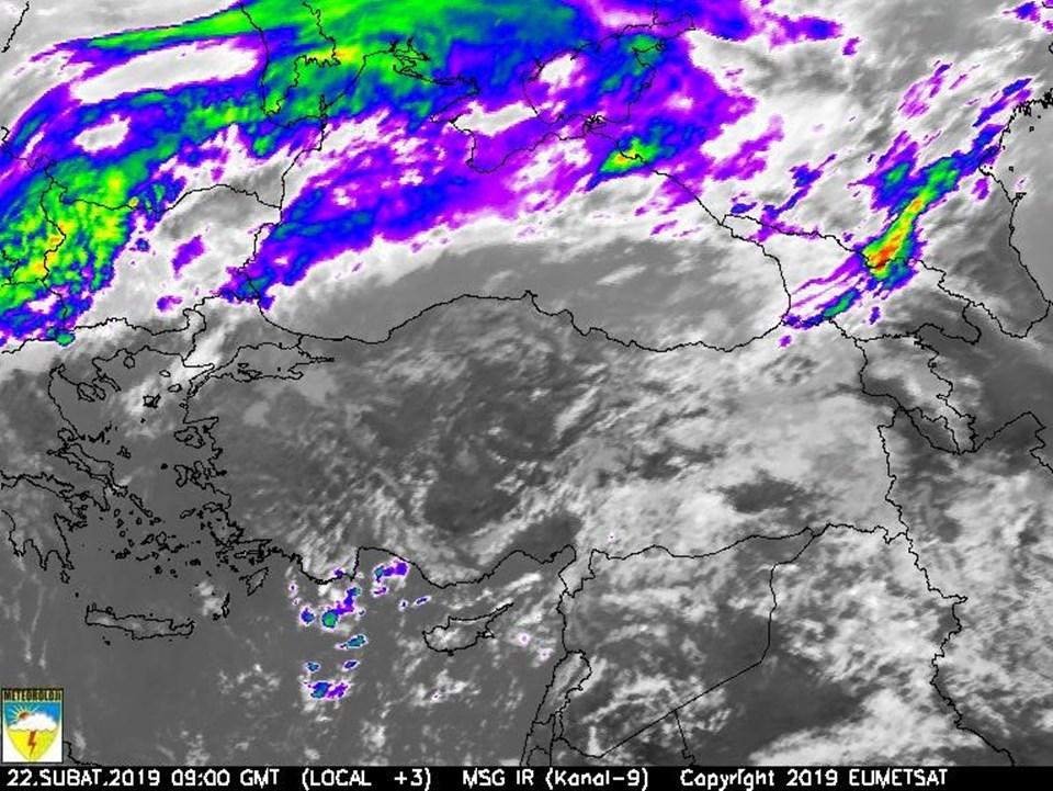 Meteroloji'nin sitesinde yayınlanan son uydu görüntüsü.