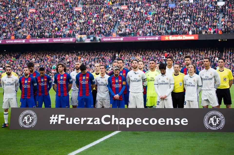 Kazanın kurbanları El Clásico'da da anılmıştı.