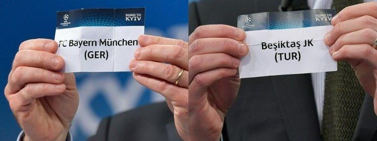 bayern münih, beşiktaş, şampiyonlar ligi