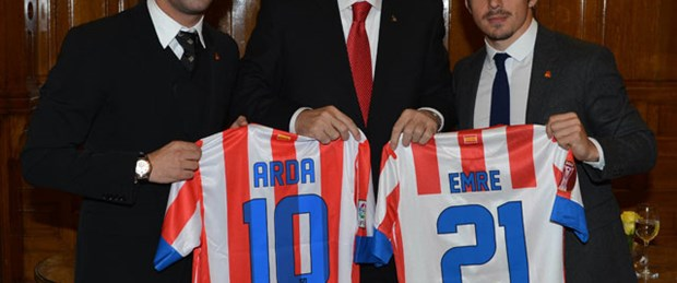 Erdoğan'a Atletico Madrid forması