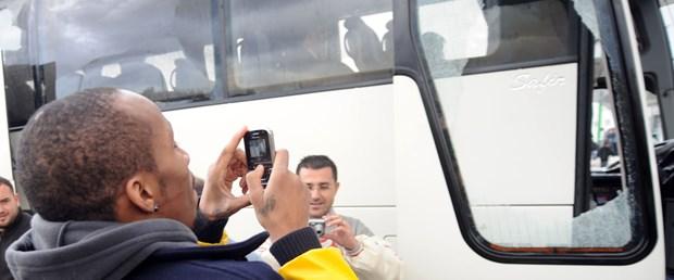 Fenerbahçe Ülker otobüsüne saldırı
