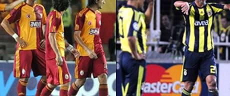 Fenerbahçe ve Galatasaray dibe vurdu!