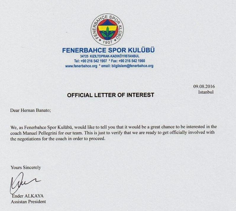Sosyal medyada yayılan ve Fenerbahçe'nin sahte olduğunu açıkladığı o belge