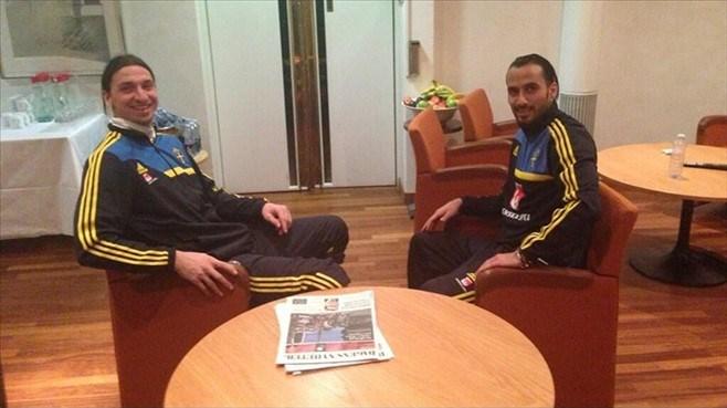 Erkan Zengin ve Ibrahimovic İsveç milli takımından arkadaşlar