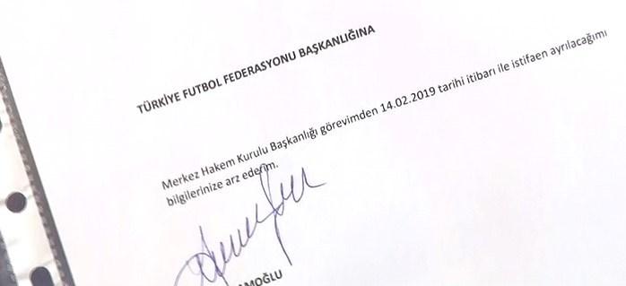 Namoğlu, canlı yayında istifa dilekçesini gösterdi.