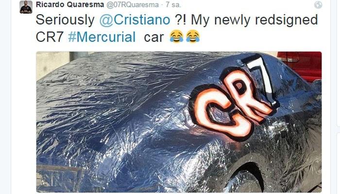 Ricardo Quaresma, Ronaldo'ya Twitter'dan böyle cevap verdi