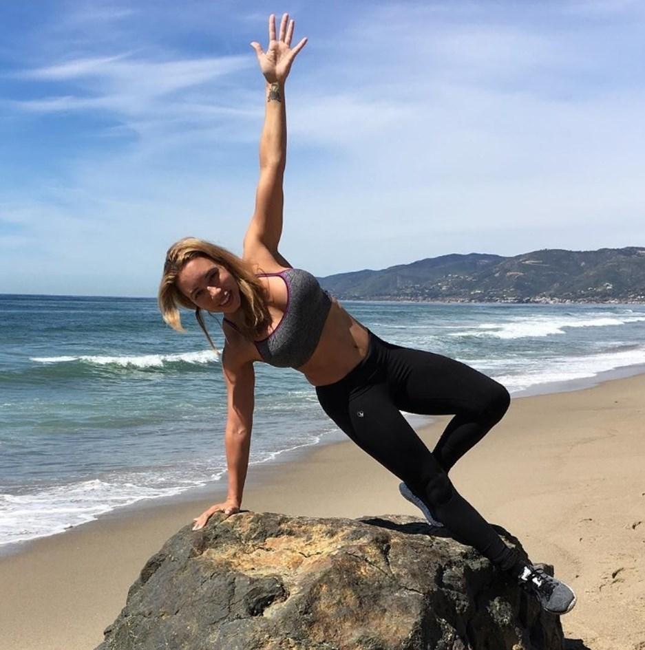 Eski sprinter Samantha Clayton, Cristiano Ronaldo'nun özel fitness antrenörlüğünü yapıyor.
