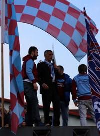 Trabzonspor taraftarlarının25 Ocak'ta yaptığı protesto yürüyüşünden...