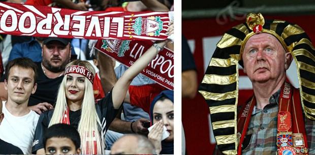 Liverpool- Chelsea taraftarlarından Vodafone Park'ta renkli görüntüler