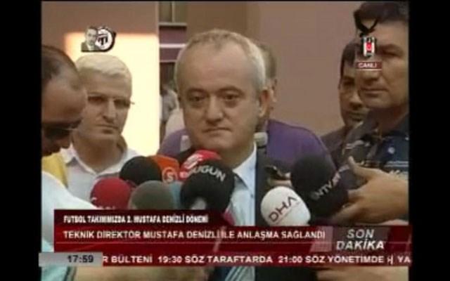BJK TV, Denizli'yle anlaşma sağlandığını son dakika altyazısıylaböyle duyurdu. (Resmi büyütmek için üzerine tıklayın)