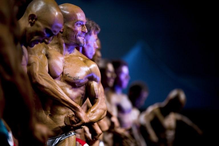 Vücut geliştirmeciler yarıştı