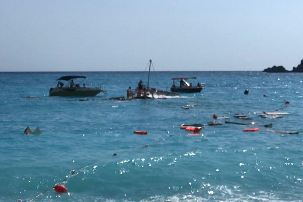 Fethiye'de tur teknesi battı - 2
