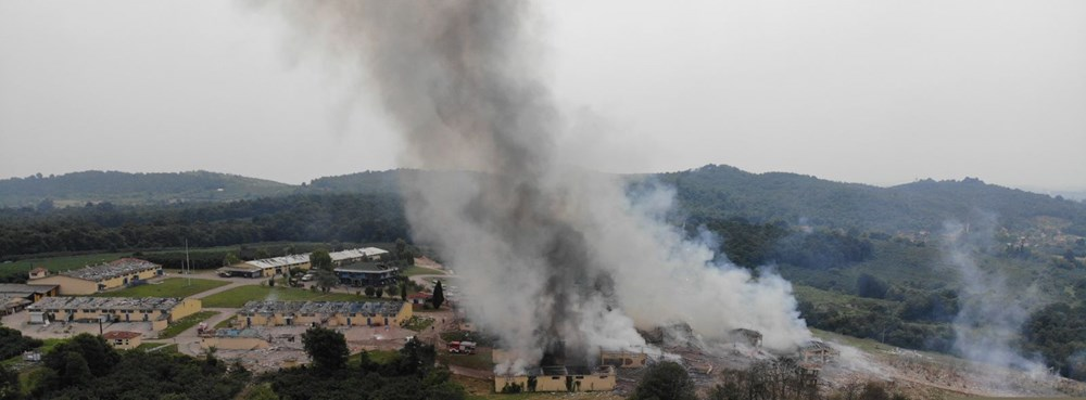 Sakarya'da havai fişek fabrikasındaki patlamadan fotoğraflar - 19