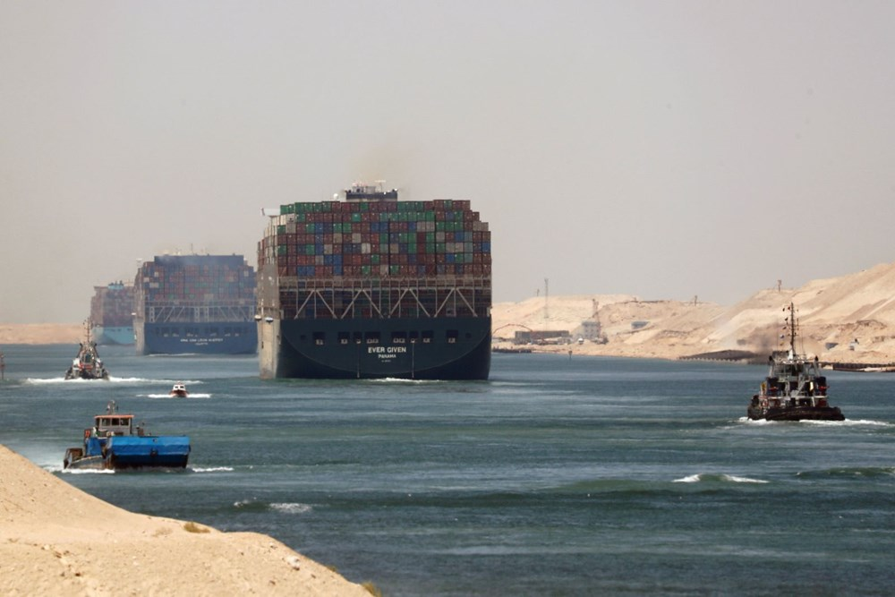 """blocking the Suez Canal """"The Ever Given"""" Headed to the Netherlands - 1"""