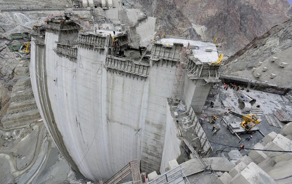Yusufeli Barajı'nda dökülen 4 milyon metreküp betonla rekor kırıldı - 9