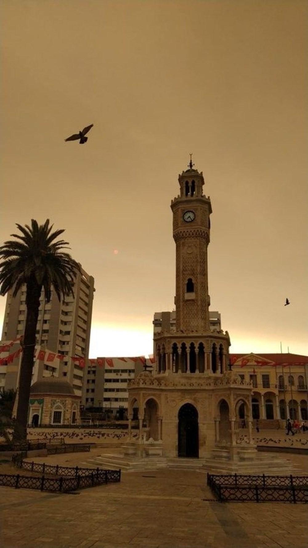 İzmir'de bulanık gökyüzü korkuttu - 5