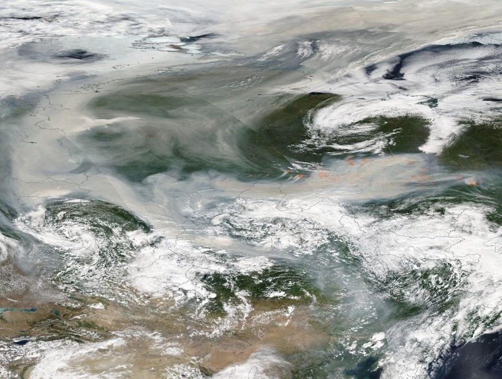 NASA duyurdu: Sibirya'daki yangınların dumanları tarihte ilk kez Kuzey Kutbu'na ulaştı - 10