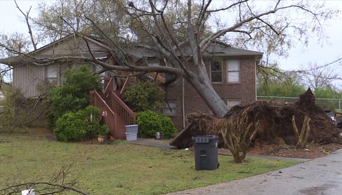 A hurricane hit Alabama
