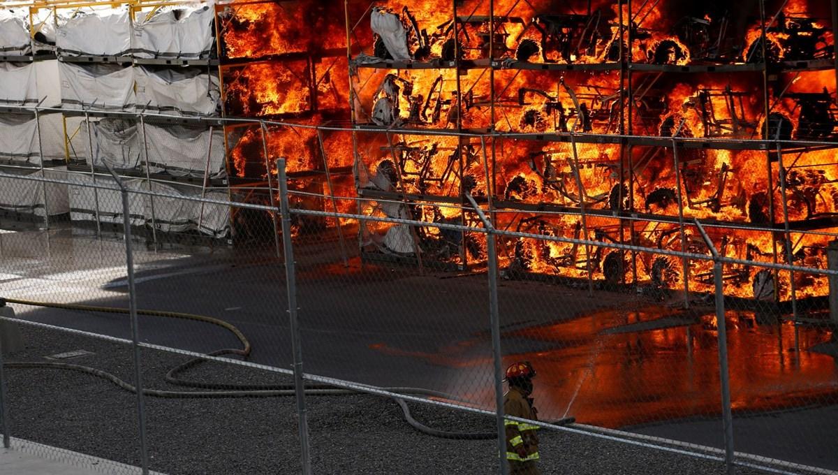 Meksika'da otomobil fabrikasında patlama: Yangın çıktı