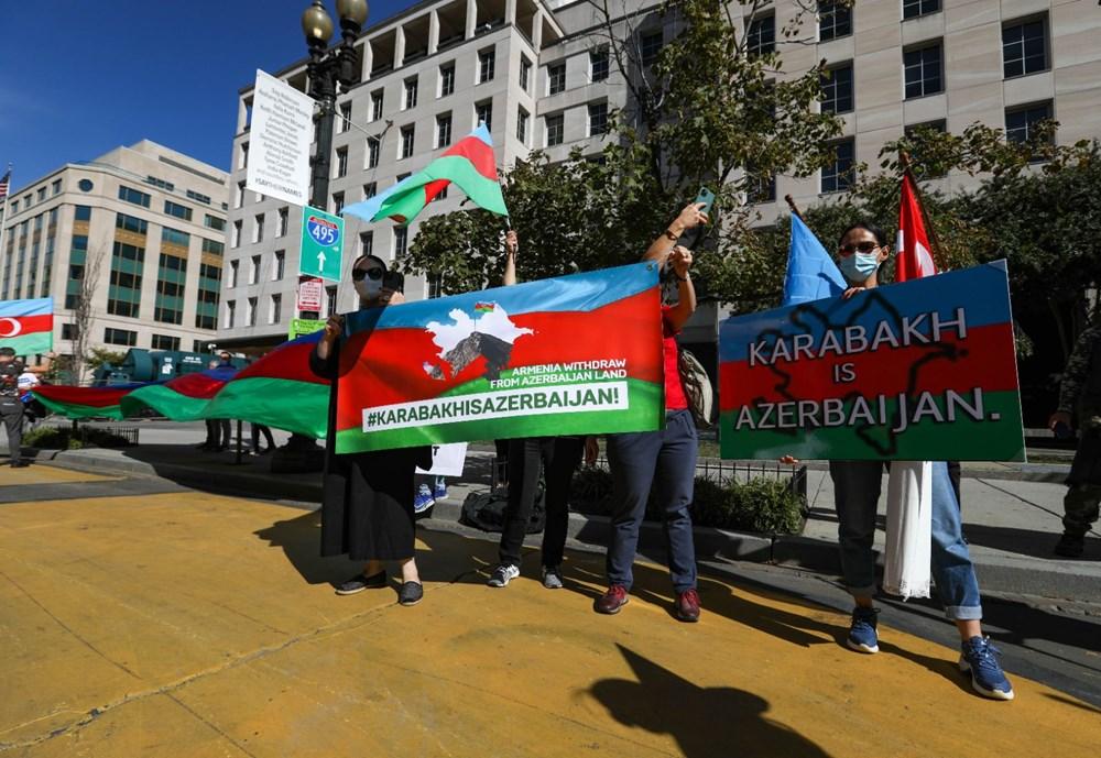 Beyaz Saray önünde Azerbaycan'a destek mitingi düzenlendi - 10