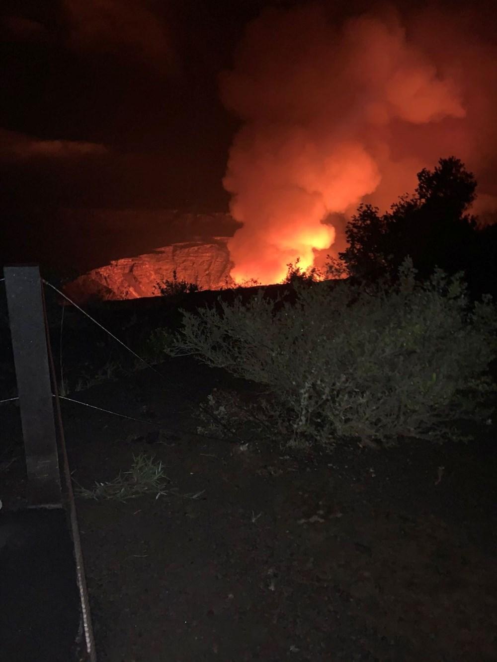 Kilauea Yanardağı'nda patlamaları: Krater gölü buharlaştı - 13