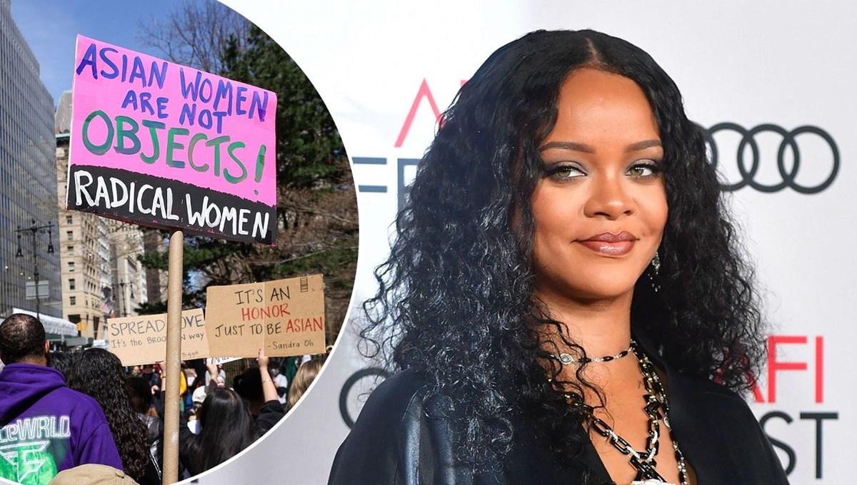 Rihanna Asyalı nefretine karşı protesto gösterisinde