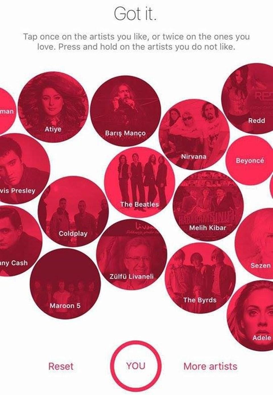 Apple Music'te listeleri yayınlanacak olan Türk küratorler iseVogue ve GQ olacak.