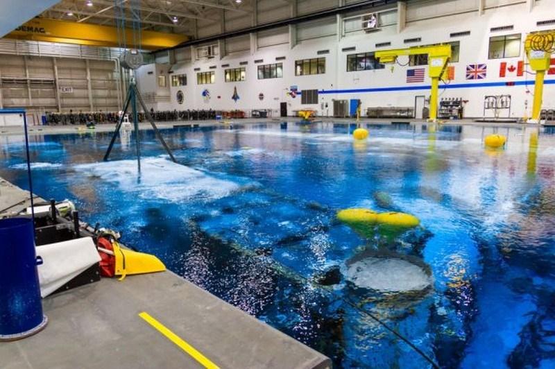 Astronotlar için özel havuz