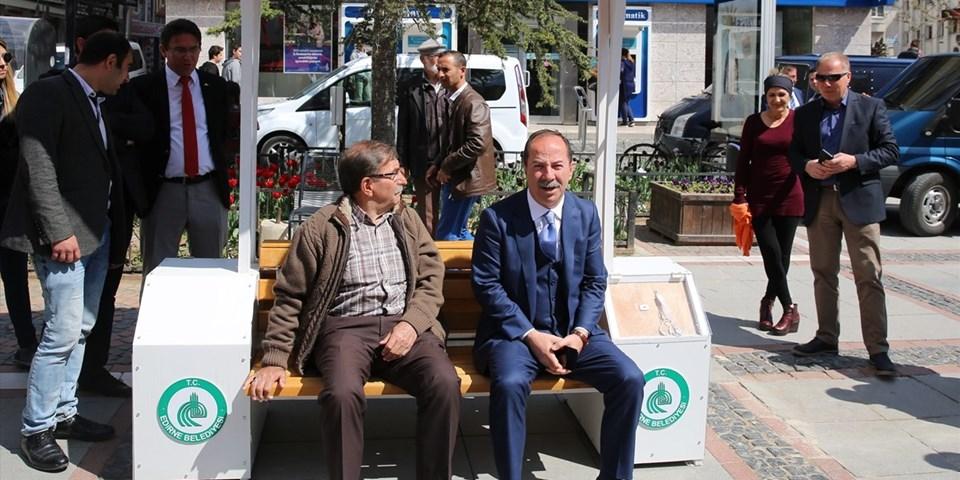Edirne Belediye Başkanı Recep Gürkan (sağda)