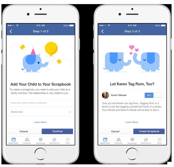 Anne ve babaların ortak bir şekilde yönetebileceği sayfa, sadece Facebook'ta evli olarak görülen kişiler tarafından kullanılabilecek.