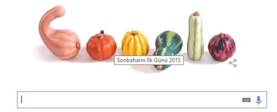 Google, sonbahar ekinoksu açılış sayfasında için bu görseli kullandı.