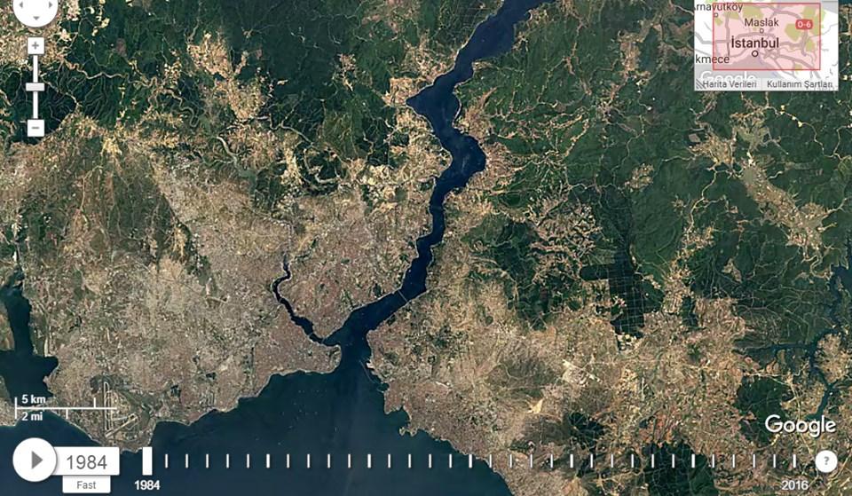 GOOGLE'IN GÖZÜNDEN İSTANBUL'UN 32 YILLIK DEĞİŞİMİ