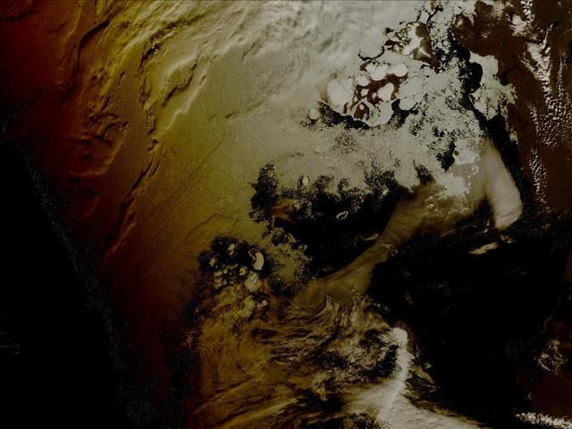 1 Ağustos 2008'de yaşanan Güneş tutulmasının, Kuzey Kutbu'na yansıması böyle görüntülendi