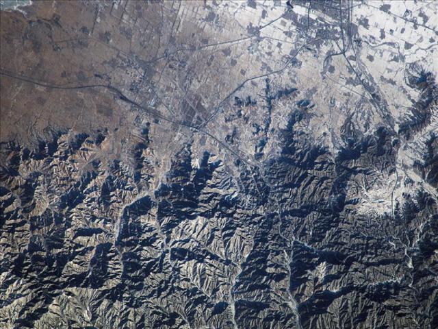 Uluslararası Uzay İstasyonu'ndan, Çin Seddi böyle görüntülendi.