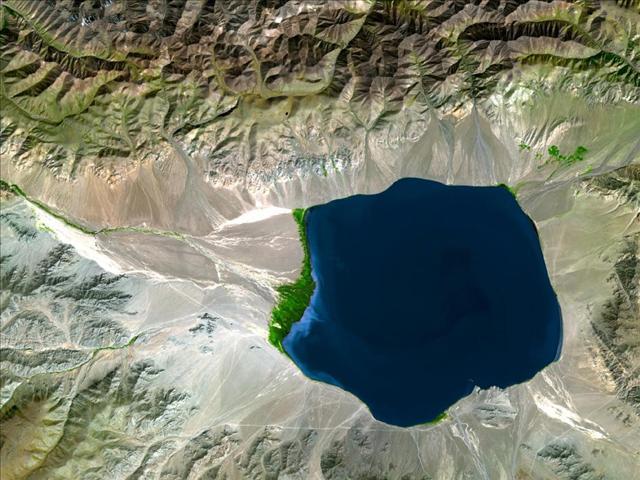 Orta Asya'daki Uvs Nur Basin Gölü