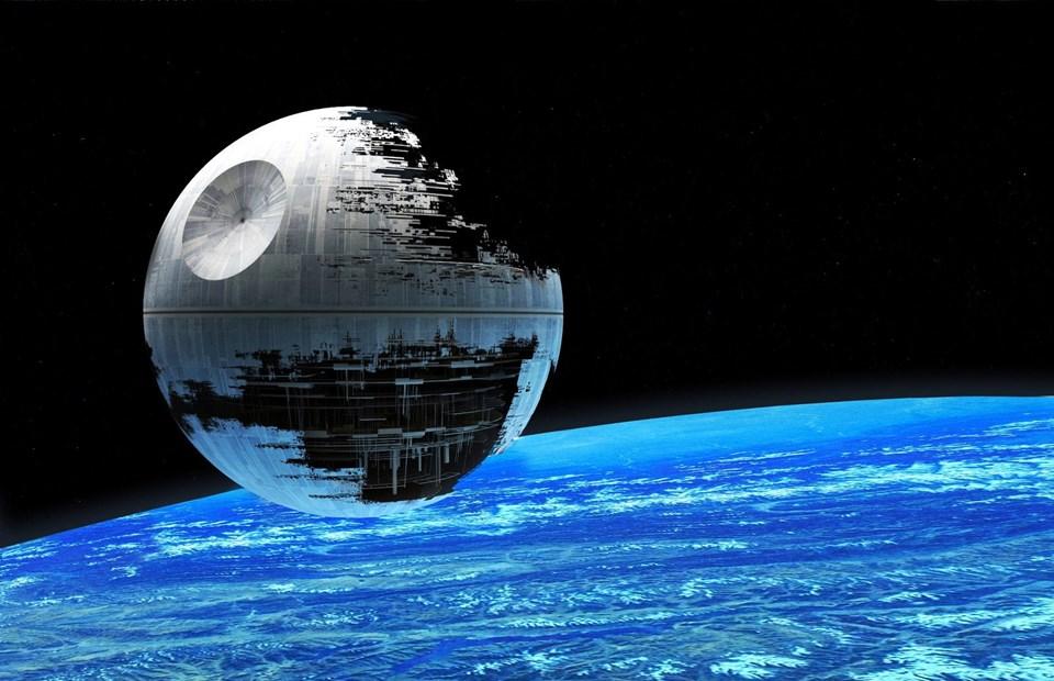 Bilim kurgu filmi Star Wars (Yıldız Savaşları)'taki ''Ölüm Yıldızı'', bir lazer atışıyla gezegenleri yok edebiliyordu.
