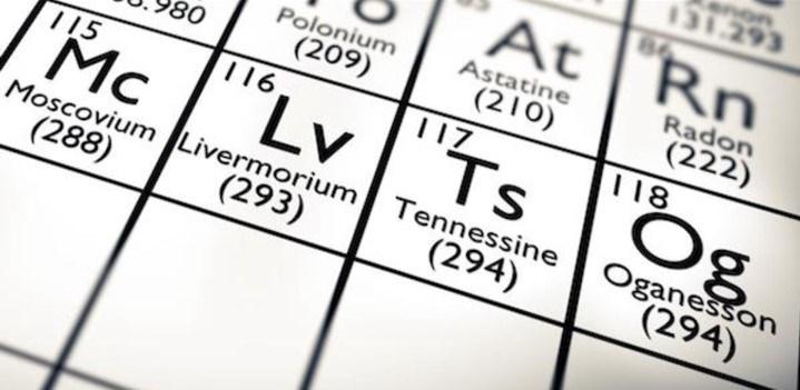Tabloda yer alan 4 yeni elementin kısaltmaları (Bulmaca tutkunları için)
