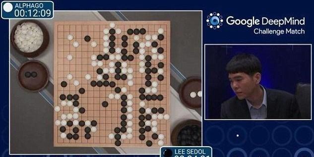 """Turnuvanın ilk maçını """"DeepMind"""" şirketinin yapay zekası """"AlphaGo"""" kazandı."""