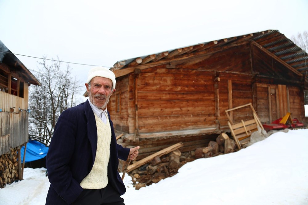 Artvin'deki 2 bin rakımlı Maden Köyü'nde kışı böyle geçiriyorlar - 5