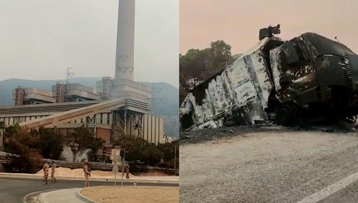NTV ekibi Kemerköy'de: Felaketten kurtulan santralin sabah görüntüleri